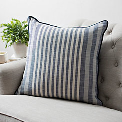 Navy Graduated Stripe Pillow