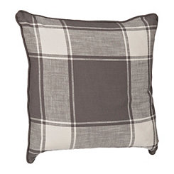 Gray Large Plaid Pillow