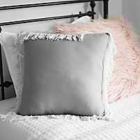 Gray Jaxson Fringe Pillow