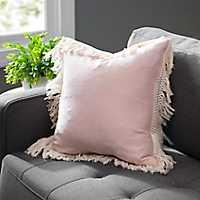 Rose Smoke Jaxson Fringe Pillow