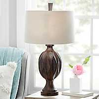 Grant Carved Ebony Table Lamp