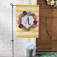 Monogram A Succulent Wreath Flag