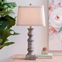 Light Gray Livy Table Lamp
