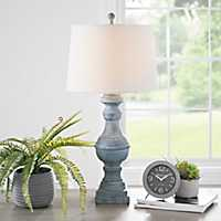 Livy Distressed Antique Green Table Lamp