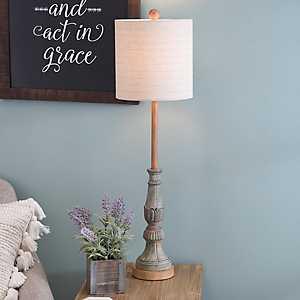 Allison Weathered Turquoise Buffet Lamp