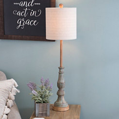 Allison Weathered Turquoise Buffet Lamp
