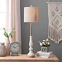 Allison Whitewashed Buffet Lamp