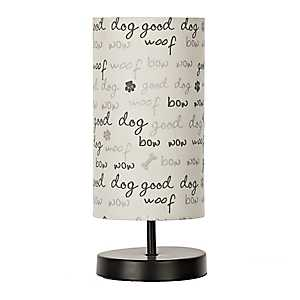Black and White Paw Print Uplight