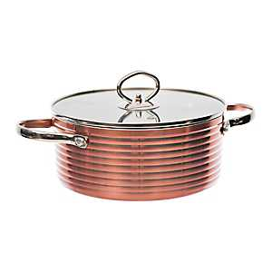 Copper 2-qt. Casserole and Stock Pot with Lid