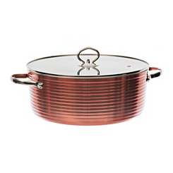 Copper 6-qt. Casserole and Stock Pot with Lid