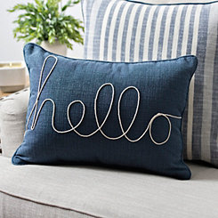 Dynasty Hello Denim Accent Pillow