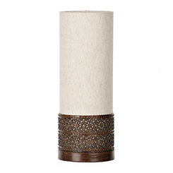 Linen and Metal Uplight