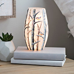 Birds and Birch Trees Night Light