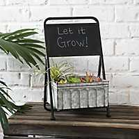 Galvanized Metal Planter with Chalkboard