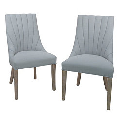 Light Blue Calista Side Chairs, Set of 2