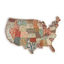 Lower 48 States Map Plaque