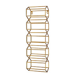 Gold Geometric Mounted Wine Rack