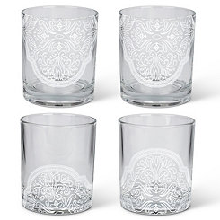 Moroccan Bee Old Fashioned Glasses, Set of 4