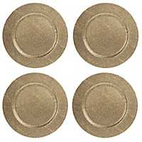 Gold Diamond Charger Plates, Set of 4