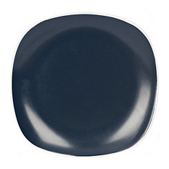 Navy Square Salad Plate