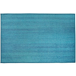 Textured Ocean Blue 2-pc. Washable Runner