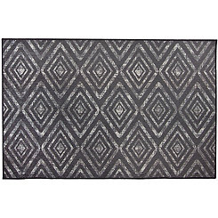 Black Prism 2-pc. Washable Scatter Rug
