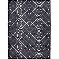 Black Amara 2-pc. Washable Area Rug, 5x7