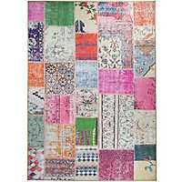 Patchwork Boho 2-pc. Washable Area Rug, 5x7