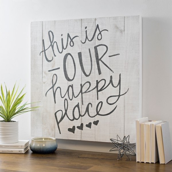 This is Our Happy Place Pallet Box Wall Plaque
