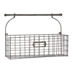 Bronze Metal Hanging Wall Basket