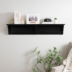 Matte Black Wooden Shelf