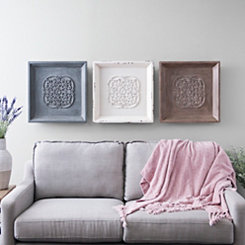 Framed Medallion Wall Plaques