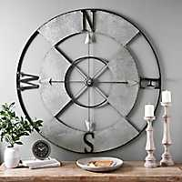 Galvanized Metal Compass Wall Plaque