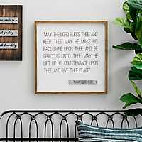 Lord Bless Thee Framed Wood and Metal Wall Plaque