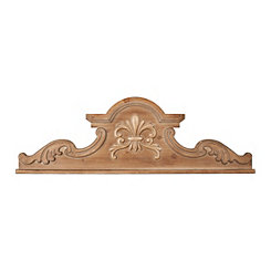 Natural Ornate Wood Carved Molding Plaque