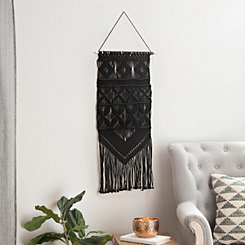 Black Macrame Wall Hanger