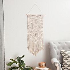 White Macrame Wall Hanger