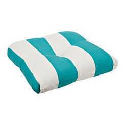 Teal Awning Stripe Outdoor Cushion