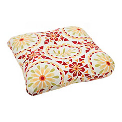 Sicily Mosaic Chili Pepper Outdoor Seat Cushion