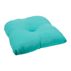 Solid Teal Outdoor Seat Cushion