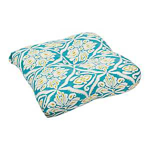 Jaipur Peacock Outdoor Seat Cushion