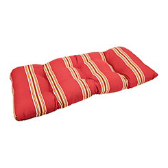 Cabana Stripe Chili Pepper Settee Cushion