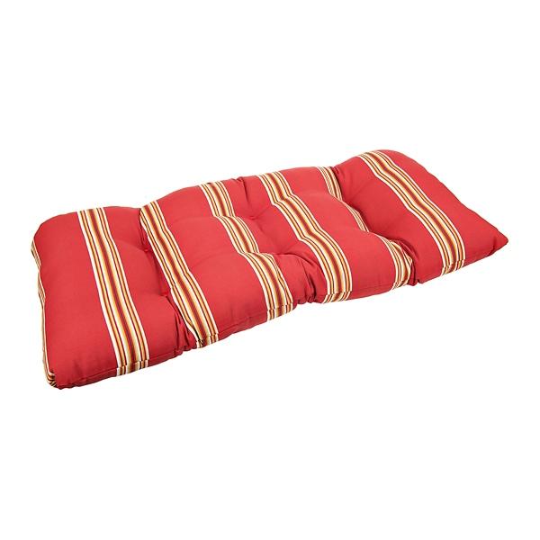 Nice Cabana Stripe Chili Pepper Settee Cushion
