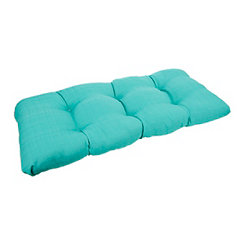 Solid Teal Settee Cushion
