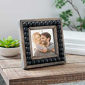 Wood Beaded Square Picture Frame, 4x4