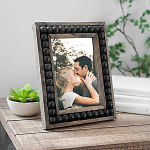 Wood Beaded Picture Frame, 5x7