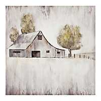 Barn in Pasture Galaxy Canvas Art Print