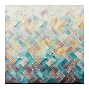 Chevron Tile Canvas Art Print