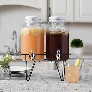 Double Jar Beverage Dispenser