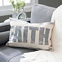 Feedsack Faith Pillow